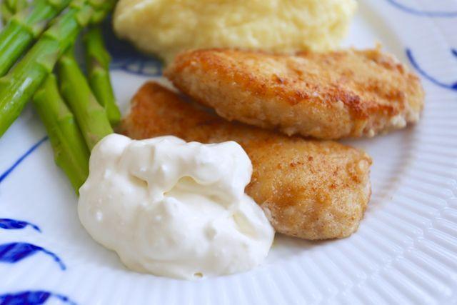 Parmesanpanerad kycklingfile med potatispure