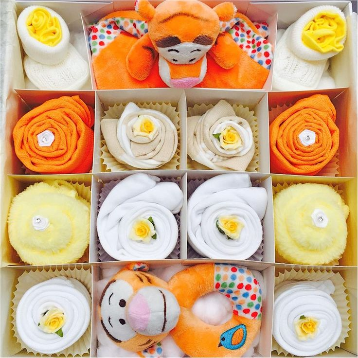 Super Deluxe Tiger Baby Clothing Cupcakes - 0-3, 3-6 or 6-12 months
