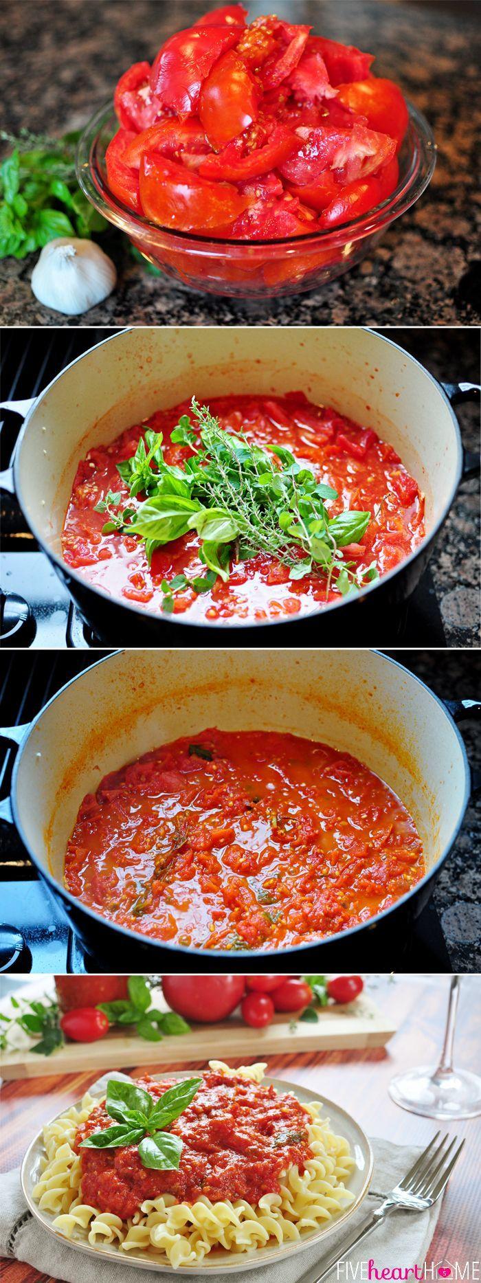 30-Minute Homemade Marinara Sauce #quick #easy #recipes