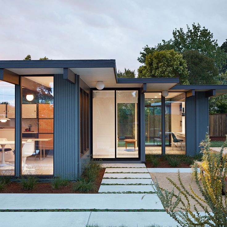 Klopf Architecture has renovated a midcentury modern home