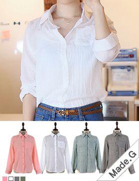 Today's Hot Pick :ガーゼコットンシャツブラウス http://fashionstylep.com/SFSELFAA0013417/hkm0977jp/out GOGOSINGオリジナルシャツ☆ ナチュラルなしわ加工の透けシャツです。 ロールアップでき春から秋まで長く活躍します♪ さらっと軽く肌触りのよいガーゼコットンを使用。 ビーチウェアにもおすすめの羽織りものです! ◆4色:ホワイト/ピンク/グレー/カーキ