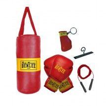 Set sac de frappe + gants + corde à sauter enfant Rouge Benlee