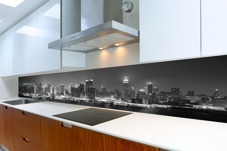 Echtglas Panoramabild als Wandbild oder Küchenrückwand bis 3 Meter - glasrückwand küche beleuchtet