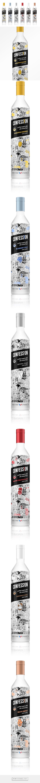 Confession #Organic #Vodka designed by Swig Studio - http://www.packagingoftheworld.com/2015/06/confession-organic-vodka.html