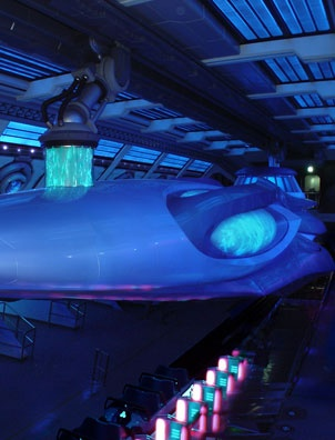 Blacklight Ride at Theme Park painted with Wildfire Paints