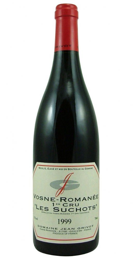 Vosne-Romanée Les Suchots Premier Cru 1999 Jean Grivot from Burgundy Wine Cellar.
