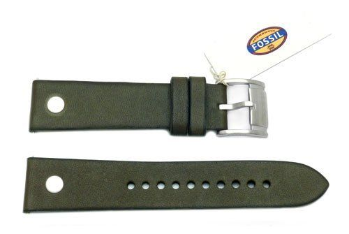 Fossil Olive Genuine Leather 22mm Watch Band   Total Watch Repair