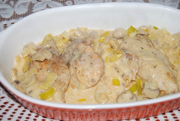 O kuchni z uczuciem : Kurczak w sosie porowym