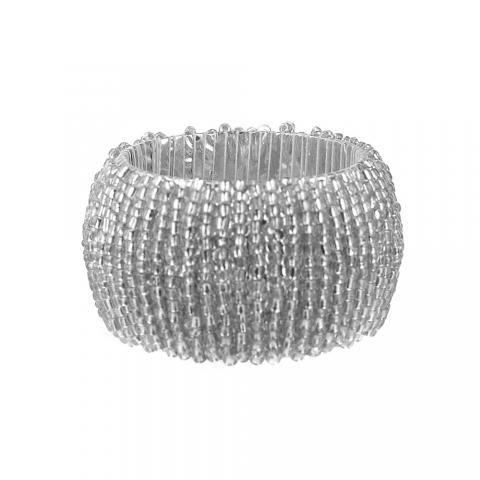 NAPKIN RING Beaded Silver | Wheel&Barrow Homewares