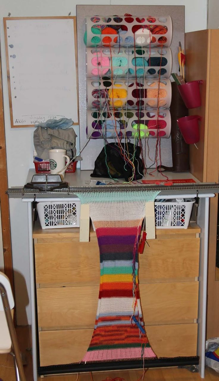 Ikea hackers yarnbombing station this is perfect b c i for Craft cabinet ikea