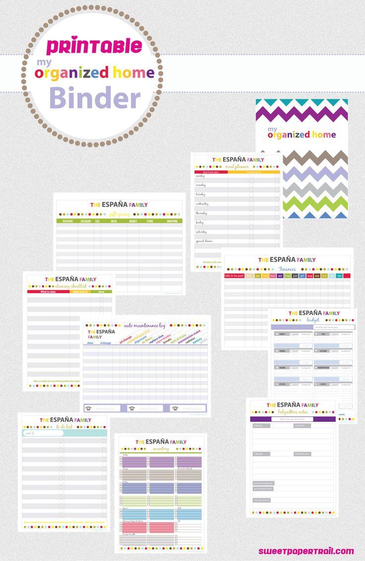 Printable Home Binder #organize #printable