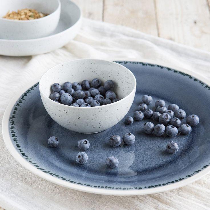 Beautiful new Aquitaine Platter and small speckle bowl - taradennisstore.com/
