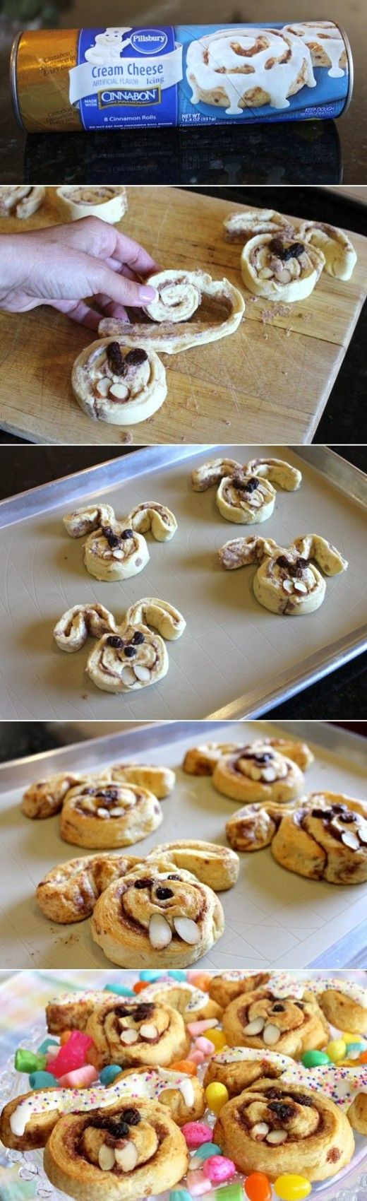 96 best paleo easter images on pinterest paleo kitchens and paleo bunny shaped cinnamon rolls diy negle Gallery