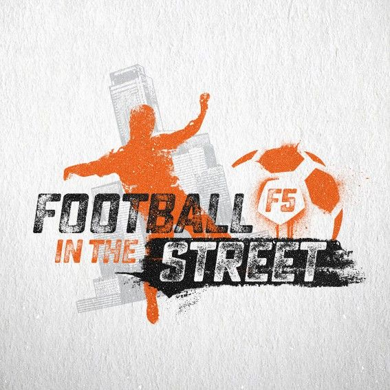 Create a vibrant image for street football by TinBacicDesign™