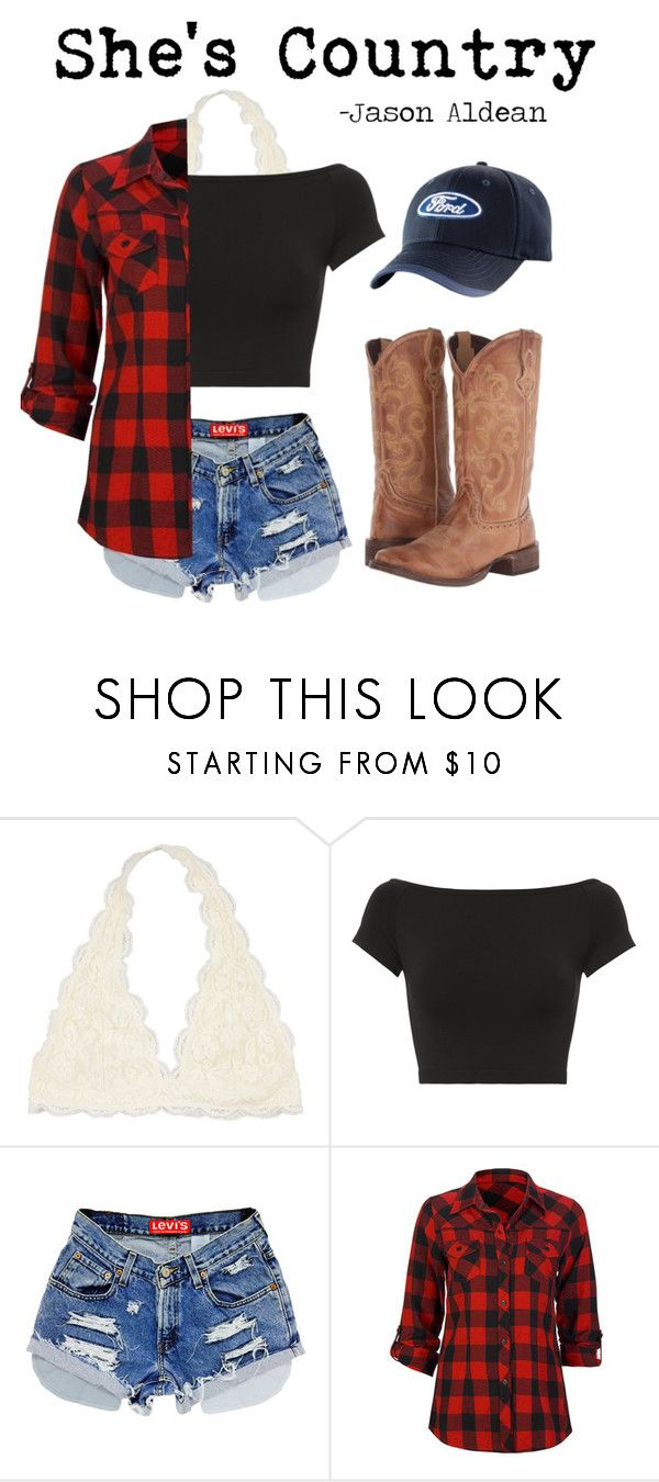 """Country Concert"" by graceschaf on Polyvore featuring Helmut Lang, Full Tilt, Roper and country"