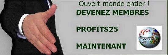 Je vous offre 50 euros pour votre inscription et commencez à gagner de l'argent ! Inscrivez-vous à Profits25 et vous recevrez de ma part 2 coupons d'une valeur de 50 euros !