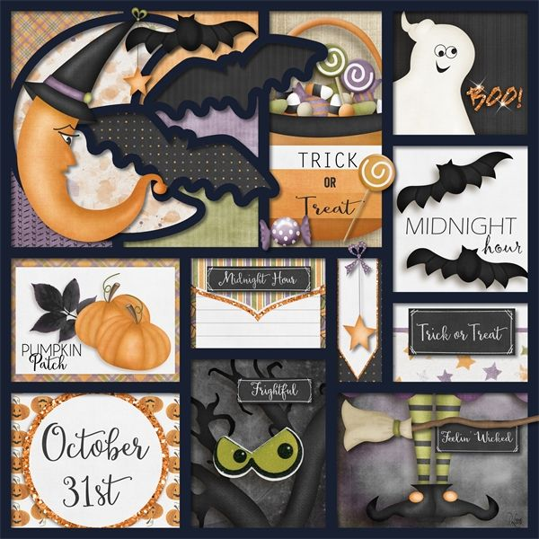 Trick or Treatin by LouCee Creations available at Pickleberrypop $1 per piece for a limited time or buy the 6 pack and get FREE matching journal cards https://www.pickleberrypop.com/shop/product.php?productid=40509&page=1  My Halloween Story templates by LissyKay Designs available at Go Digital Scrapbooking http://www.godigitalscrapbooking.com/shop/index.php?main_page=product_dnld_info&cPath=29_308&products_id=21611