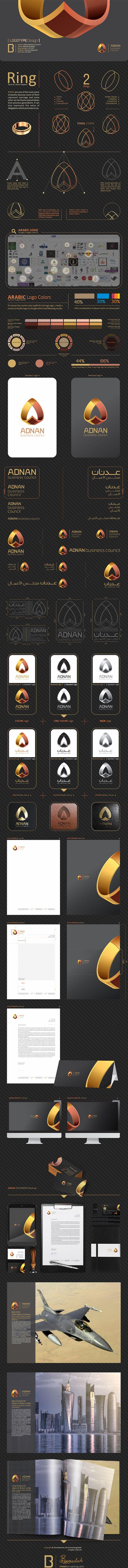 ADNAN Business Council [ Logo Design ] by Mohsen Beygzadeh, via Behance