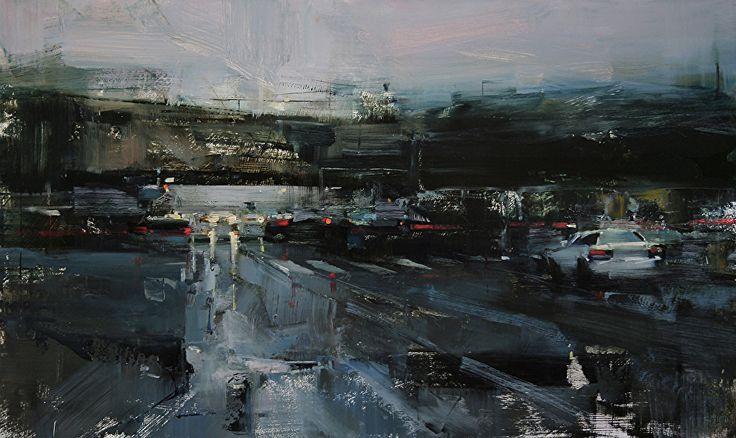 Viernes por la noche por Tibor Nagy Aceite ~ 11,8 x 19,6