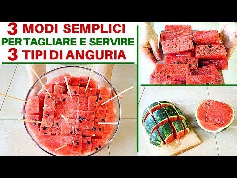 COME TAGLIARE E SERVIRE 3 TIPI DI COCOMERO - How to cut and serve 3 type...