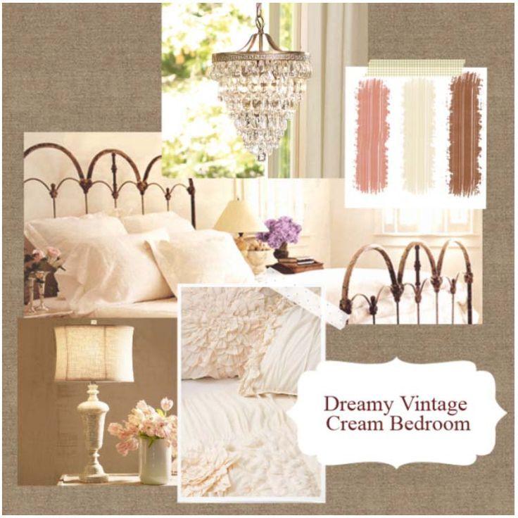 Dreamy Vintage Cream Bedroom...cream copy:
