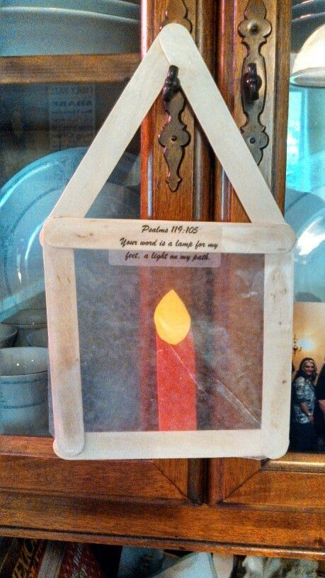 Your word is a lamp to my feet. Super easy craft!! by odessa