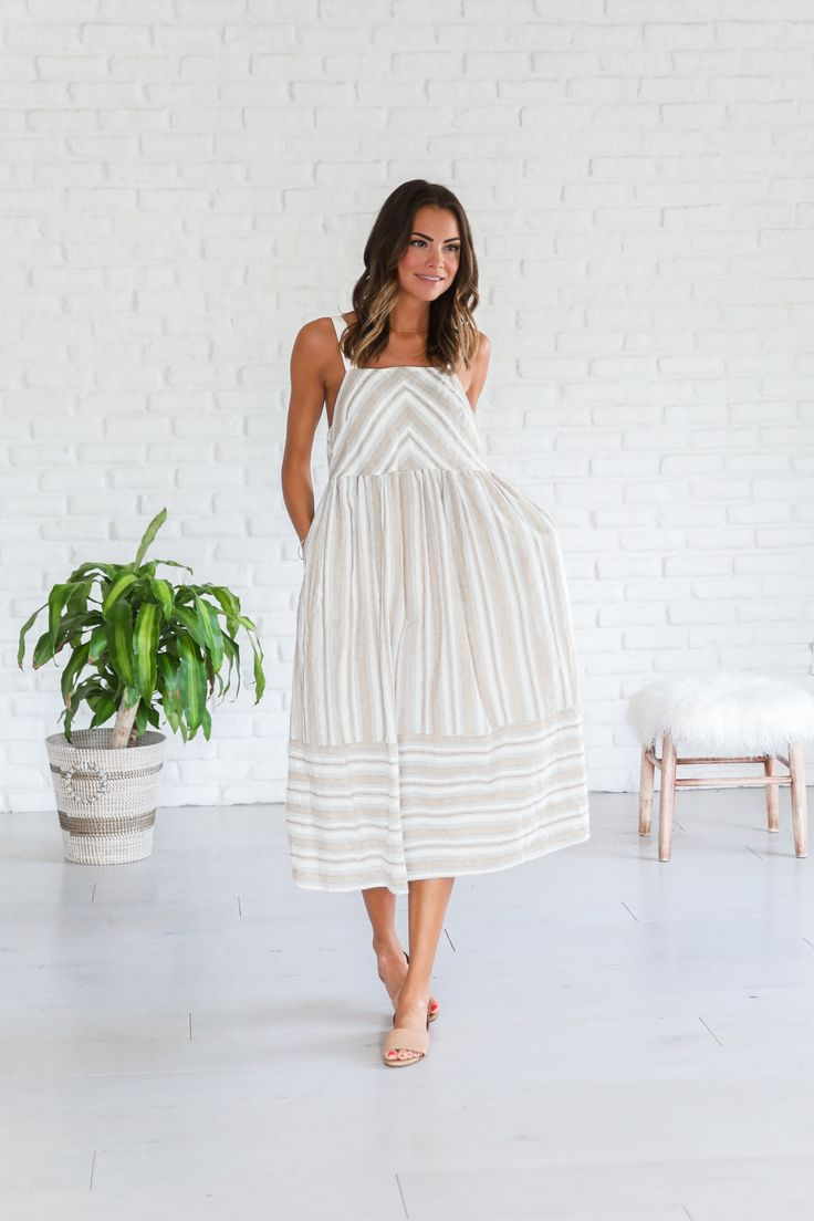 Boho tunic top blouses and dress 4009 trendy boho vintage gypsy - Nautical Nude Striped Dress