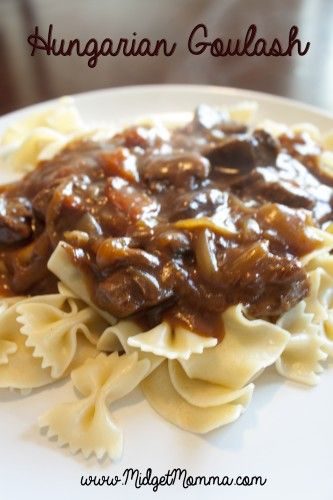 Hungarian Goulash - Easy crockpot recipe! Tastes AMAZING! Great for a cool fall night for dinner! NOT your typical goulash, this one is filled with veggies and flavor and amazing!