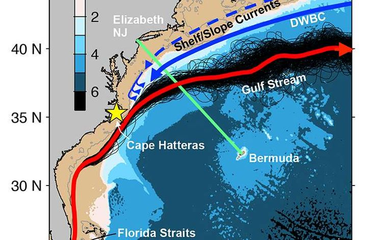 06/15/2015 - Accelerated warming of the continental shelf off northeast coast - Phys .org  The heat source is under the water - ever try to heat a pot of water with a blowdryer?  Air temp can only affect water temp so much, IMHO.  West coast has the 'blob' at the same time - coincidence?
