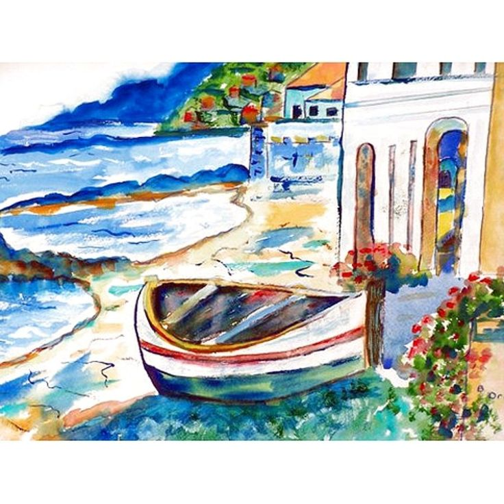 Betsy Drake Coastal Sicilian Shore Multicolor Polyester Door Mat (30x50), Multi