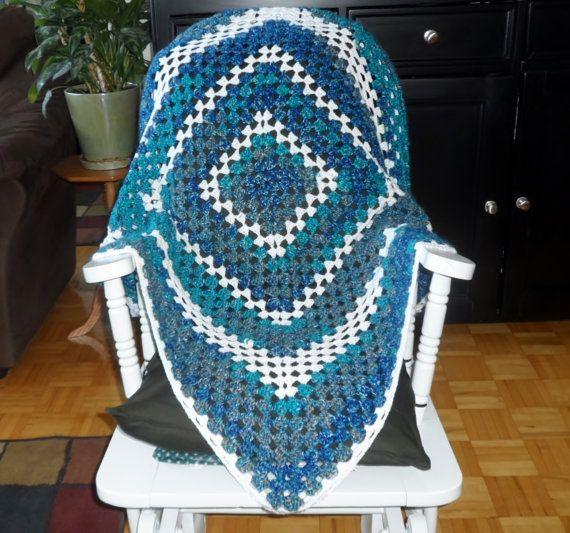 Crochet afghan crochet blanket bed throw by PattisPlaceinOntario