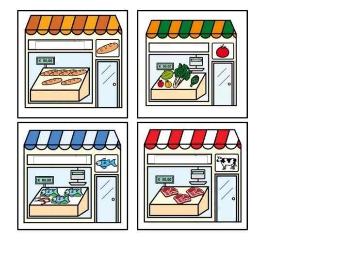 5.tarjetas para clasificar los distintos tipos de tiendas by Nieves Lopez Pons via slideshare
