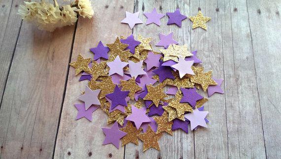 Twinkle Twinkle Little Stars/Gold Glitter star Confetti/Purple and Gold Star Confetti/Purple Star Confetti/Gold and Purple Confetti/stars