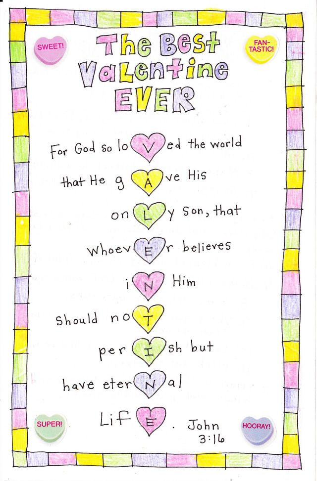 The Best Valentine Ever (valentines Day Card Sayings Bible Verses)