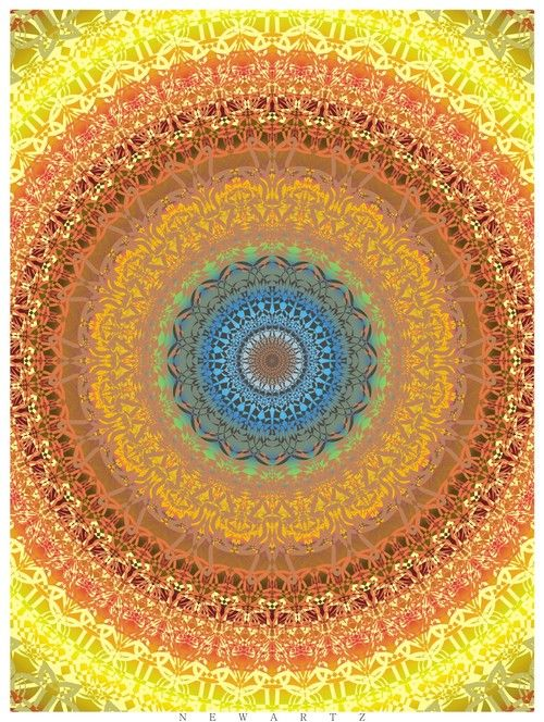 simple concentric designed, transitions are smooth and well blended. also very attracted to the colorscheme, very desert paletted