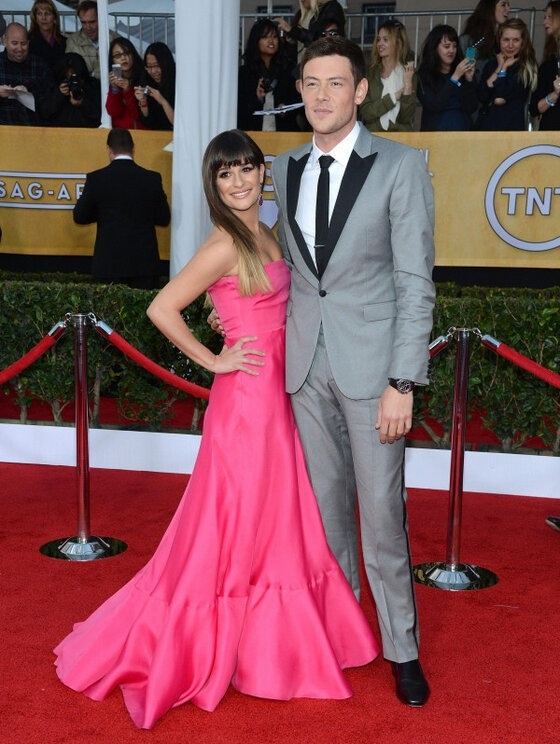 Lea Michele and Cory Monteith #Glee on the red carpet at the #SAGAwards! (01/27/2013)
