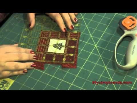 How to finish a cross stitch piece or a quilt square into an ornament