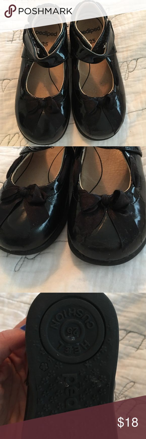 Pediped Patent Leather dress shoes with bow Darling dress shoes with Velcro closure pediped Shoes Dress Shoes
