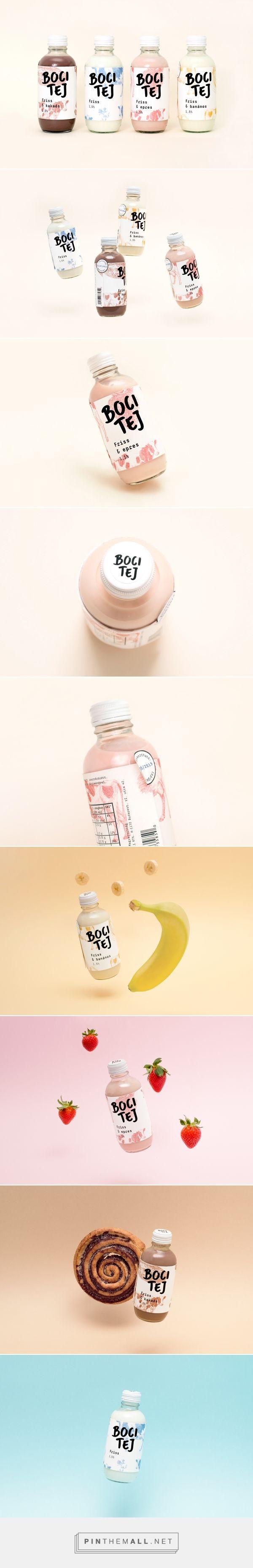 Boci Tej / Milk Packaging / by Nóra Rohmann > https://www.behance.net/gallery/26646487/Boci-Tej-Milk-Packaging