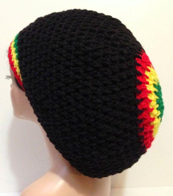 Crochet Bob Marley Tam. Rasta Dreadlocks hat by Africancrab d1fbd7659b8