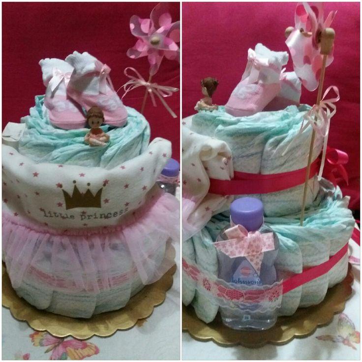 Diaper cake for girl