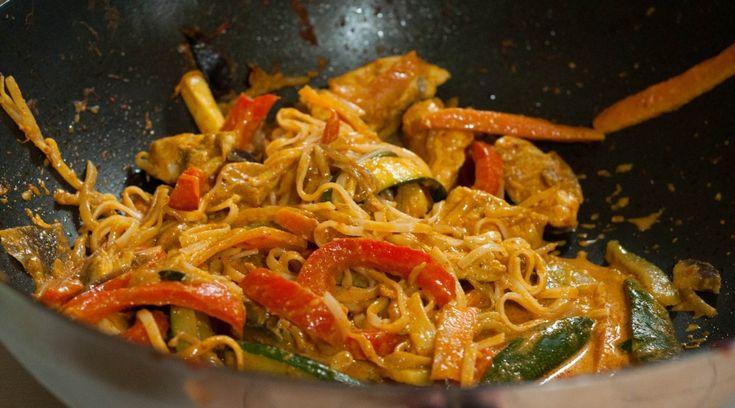 pad thai legumes poulet