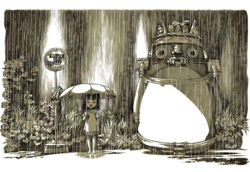 """lapinchecanela: """"Tlaloc / Totoro por José Quintero """""""