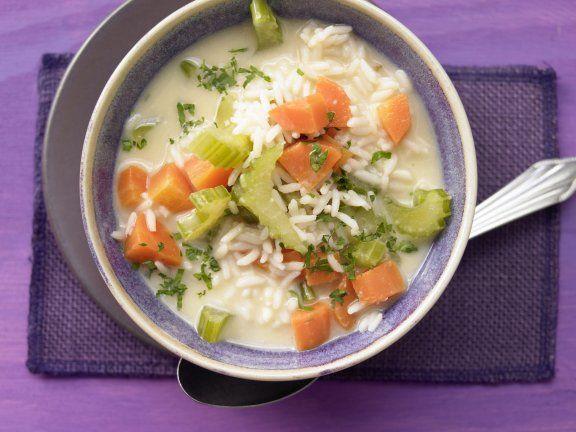 Rezept: Reissuppe auf griechische Art