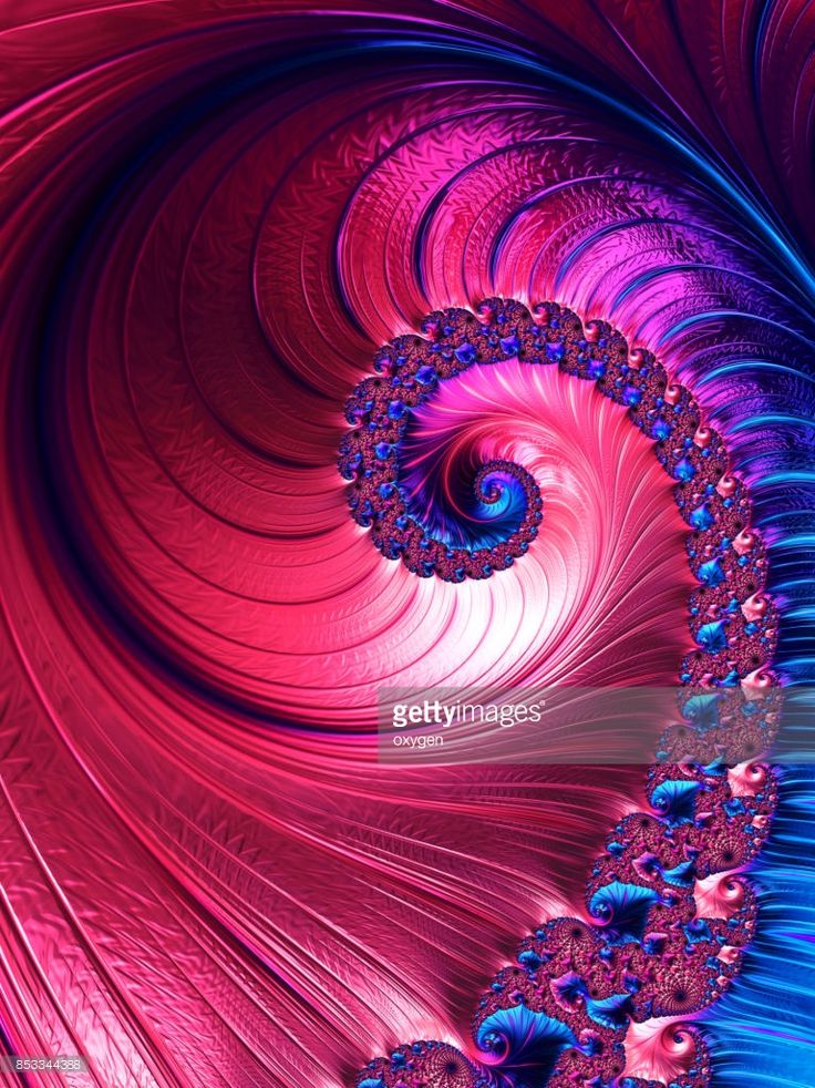 Blue and pink spiral abstract fractal pattern background. Decorative concept. Digital Art by Oksana Ariskina on @gettyimages. #OksanaAriskina #Artworks #Abstract #Fractal #gettyimages #gettyimagescreative  #gettyimagesnew #Magenta #Blue