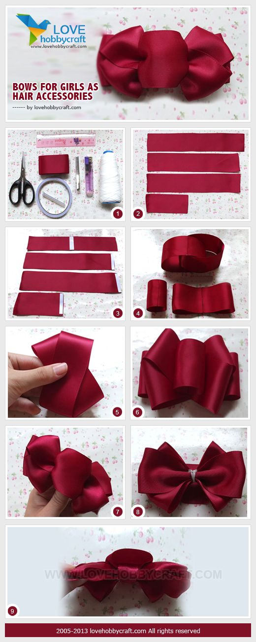 Bows for girls as hair accessories