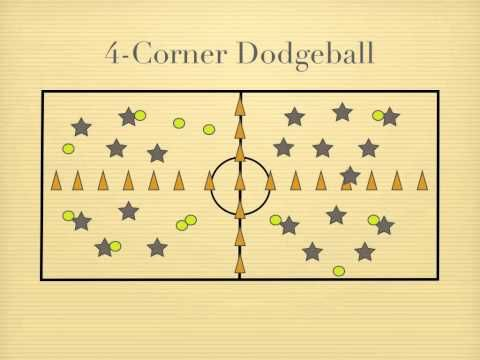 Physical Education Games - 4-Corner Dodgeball