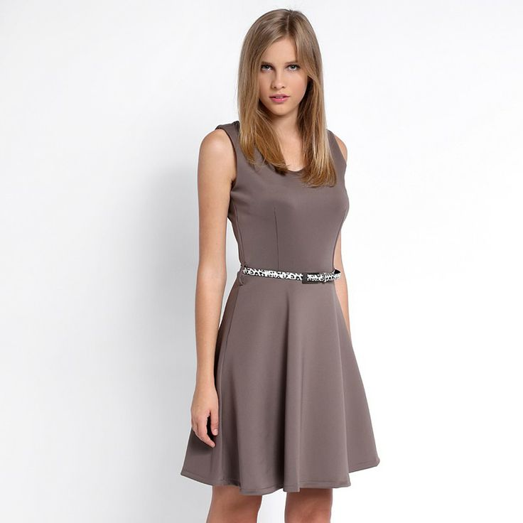 Autumn/Winter 2014 | FULLAHSUGAH PLAIN BELTED FLIPPY DRESS | €29.90 | 3422102418 | http://fullahsugah.gr
