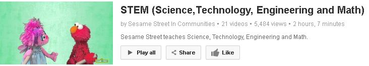 Sesame Street STEM (Science,Technology, Engineering and Math) - on YouTube