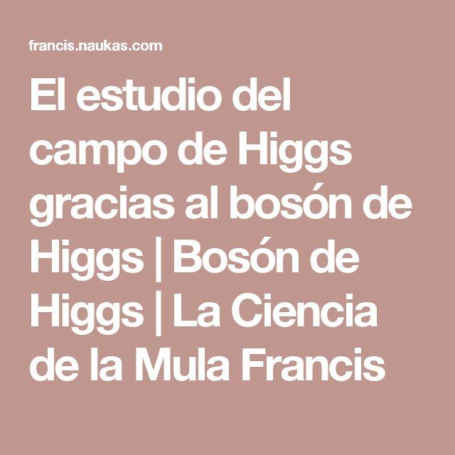 El estudio del campo de Higgs gracias al bosón de Higgs | Bosón de Higgs | La Ciencia de la Mula Francis